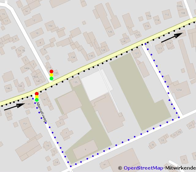 Joggen in der Stadt und die rote Ampel
